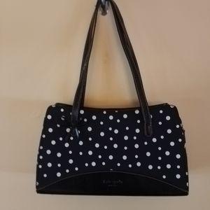 Kate Spade black and white polka dot shoulder bag